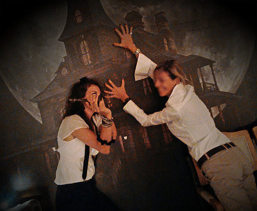 Backdrop photo mistery murder party