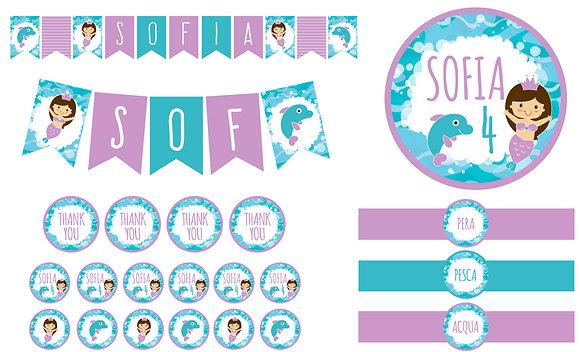 Party Kit digitale Sirenetta