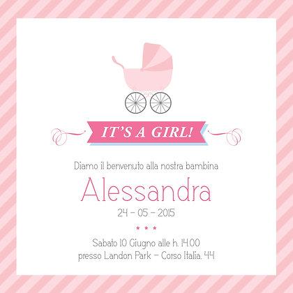 Invito baby Girl personalizzato
