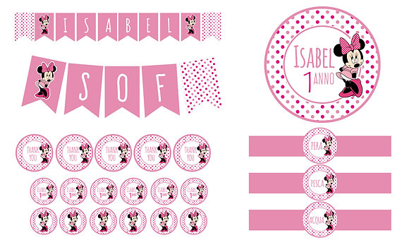 PARTY KIT digitale MINNIE