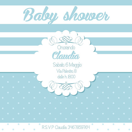 Invito baby shower Boy personalizzato