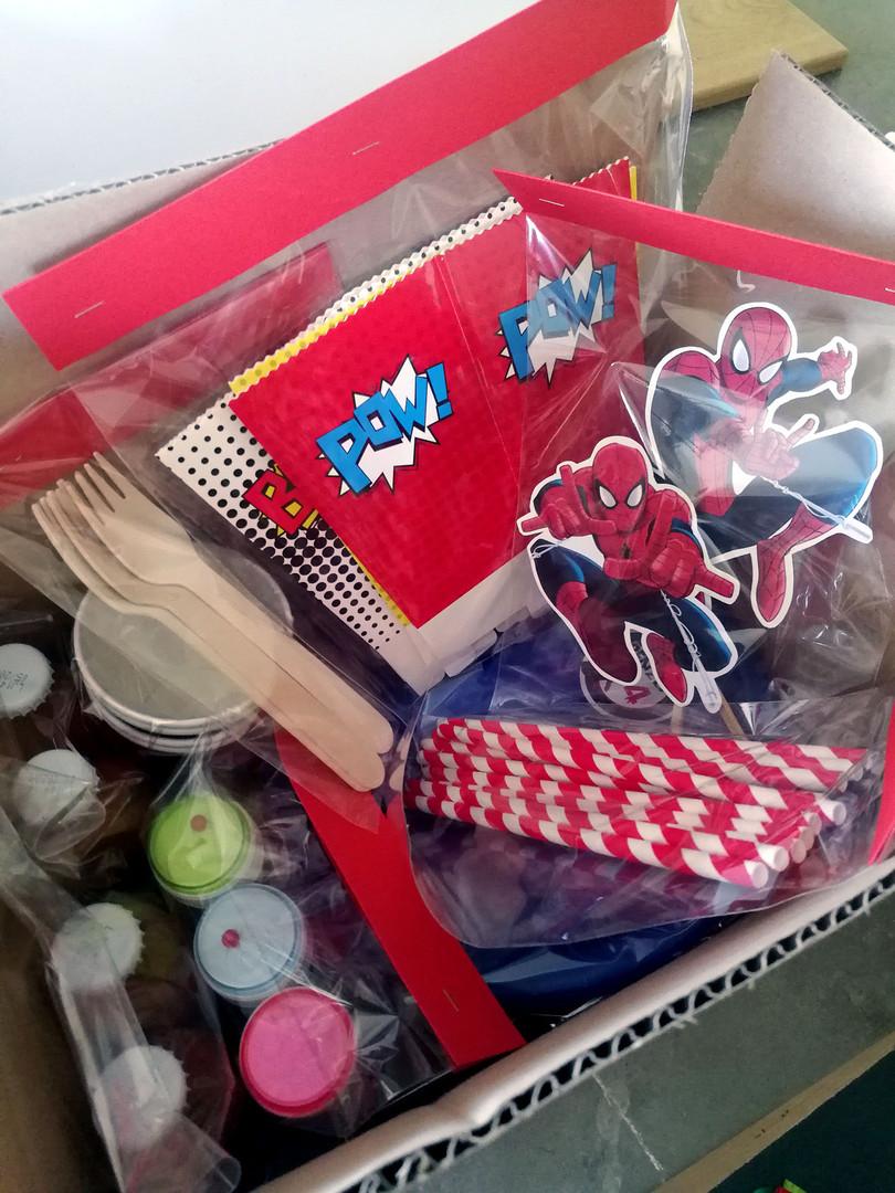 party kit spiderman