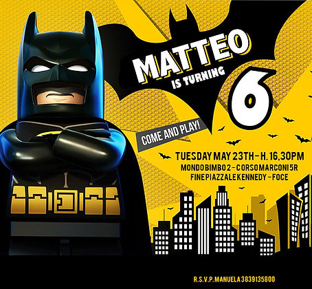 Invito Digitale Lego Batman
