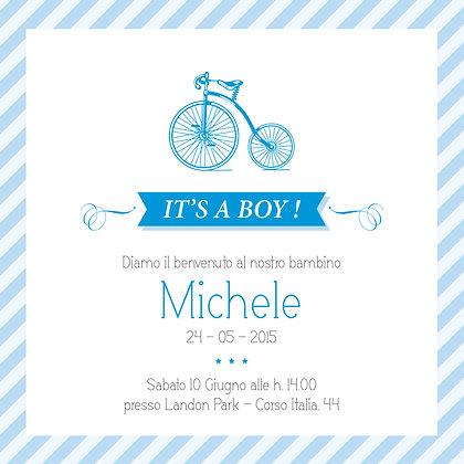 Invito baby Boy personalizzato