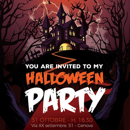Invito Halloween party