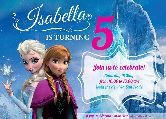 Invito digitale Frozen