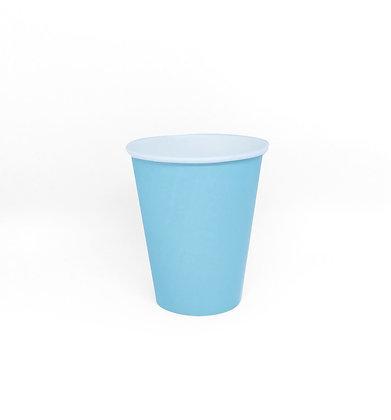 8 Bicchieri azzurro pastello