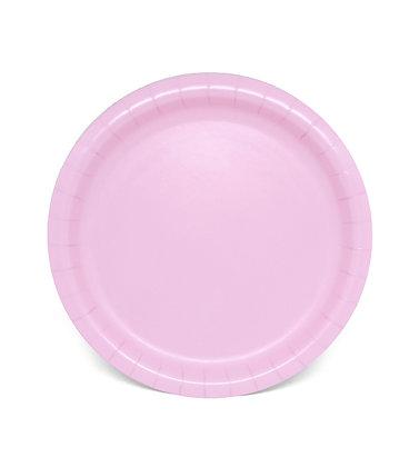 8 Piatti rosa pastello