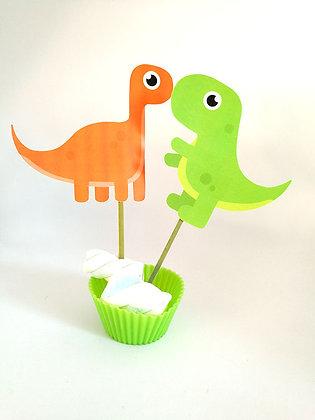 n.5 Food tags Dinosauri grandi