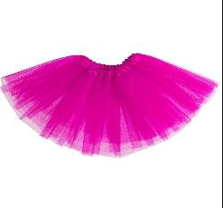 Gonna in tulle rosa fuxia
