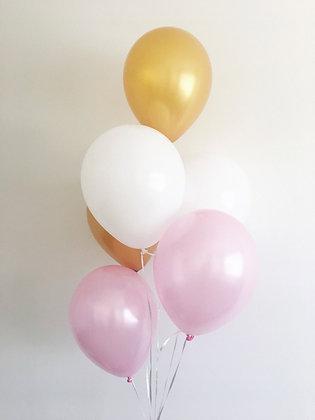 60 Palloncini misti ( 20 rosa - 20 oro - 20 bianchi)