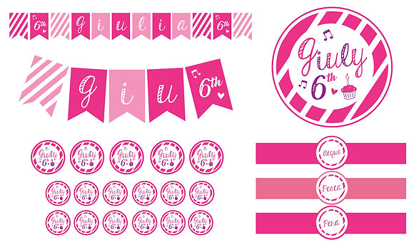 Party Kit digitale Pink Music