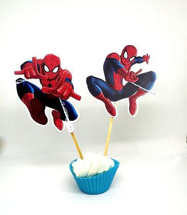 n.6 Food tags Spiderman grandi