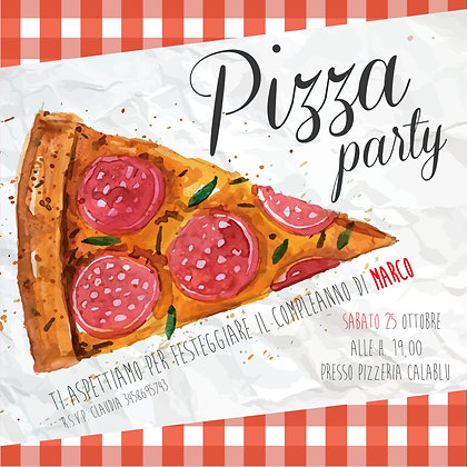 Invito Pizza Party