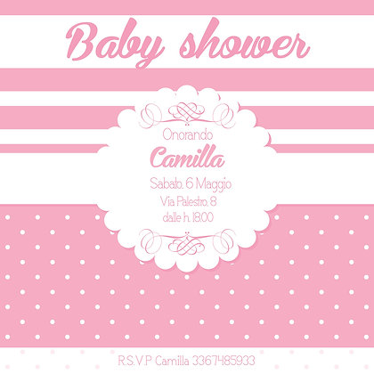 Invito baby shower Girl personalizzato