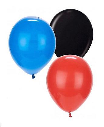20 Palloncini mix rossi, blu, neri