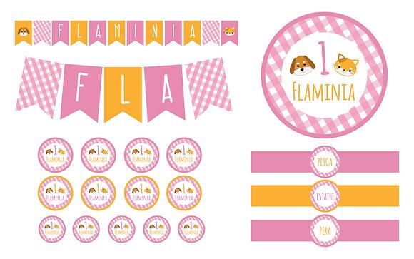 Party Kit digitale Fattoria girl