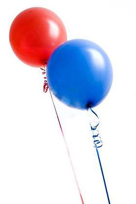 40 Palloncini rossi e blu mix metallizati