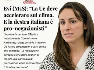 LA MIA INTERVISTA SU CLIMA E AMBIENTE PER IL FATTO QUOTIDIANO