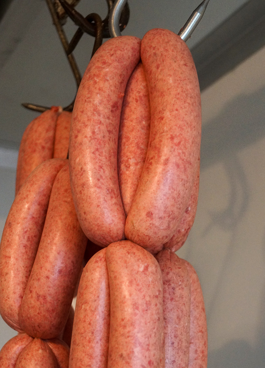 Outback Lamb sausages