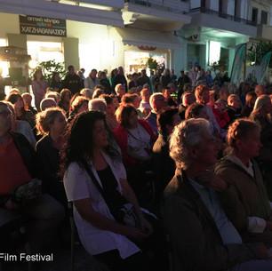 Pavked Audience in Paleochora Square