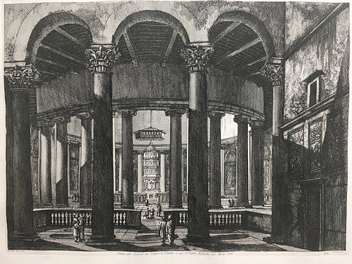 Interior of the Temple of Claudius  Rome 1822  T91