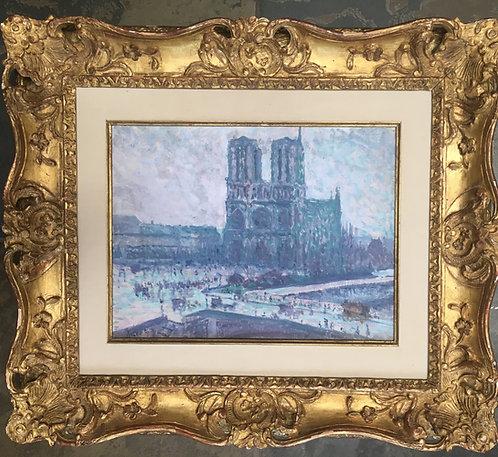 """""""Notre Dame de Paris"""" by Maximillian Luce"""
