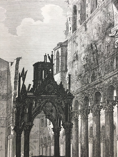 Ruin of the Great Triumphal Arch of the Cross,  Roma 1823 T99
