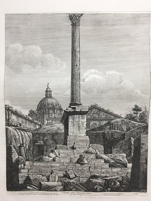 Column of the Emperor Foca in the Roman Forum, Roma 1819 T66