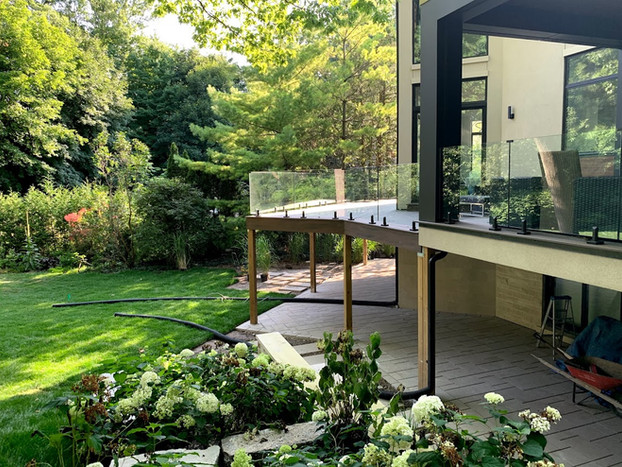 Deck with Frameless Glass Railing
