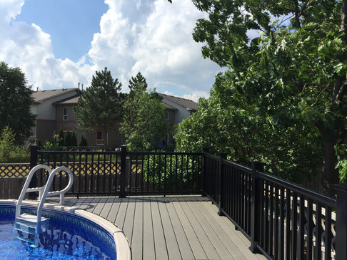 Above-Ground Pool Deck