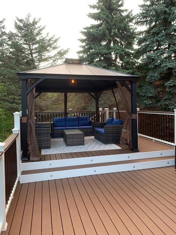 Close-up of Composite Deck with Gazebo