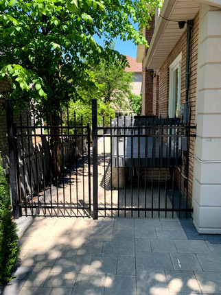 Iron Fence with Arched Gate