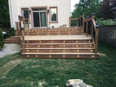 Deck with LED Lights