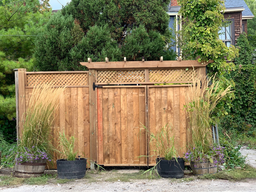 Double Gate with Pergola