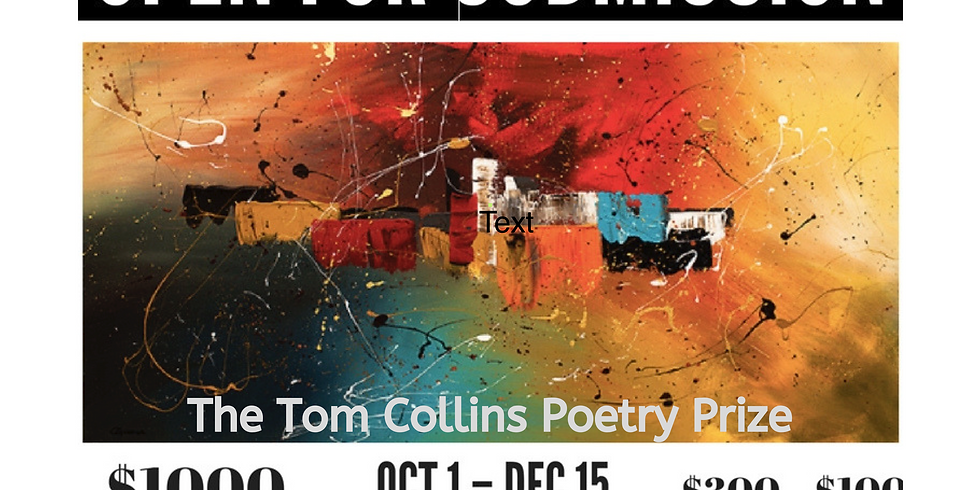 Tom Collins Poetry Prize Open