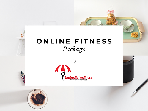 Online Fitness & Wellness Package