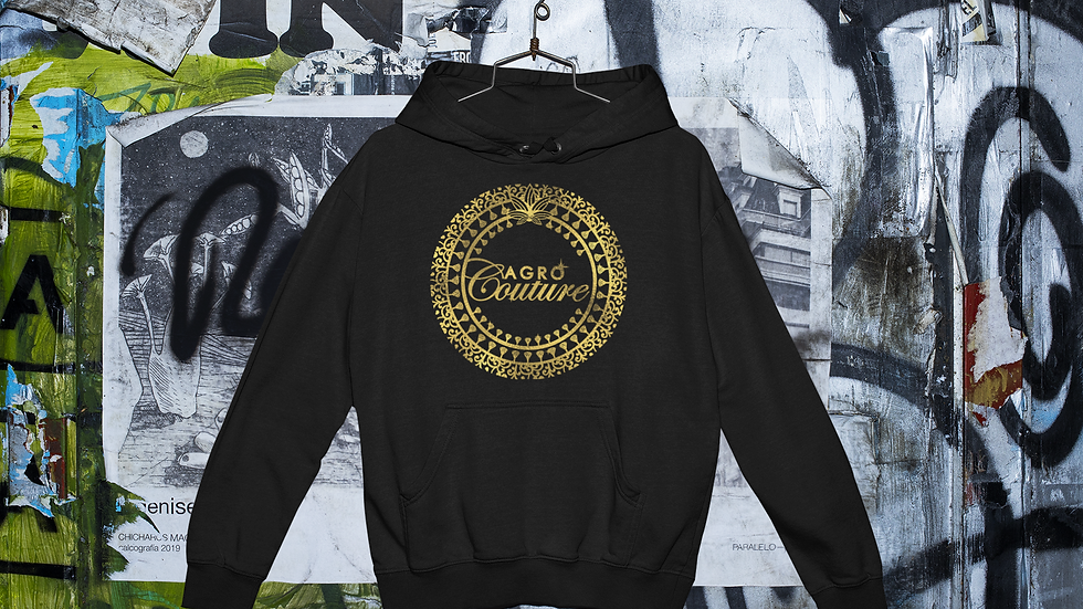 Black Agro Couture Hoodie
