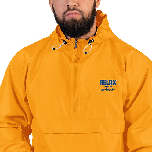 Relax! Embroidered Champion Packable Jacket