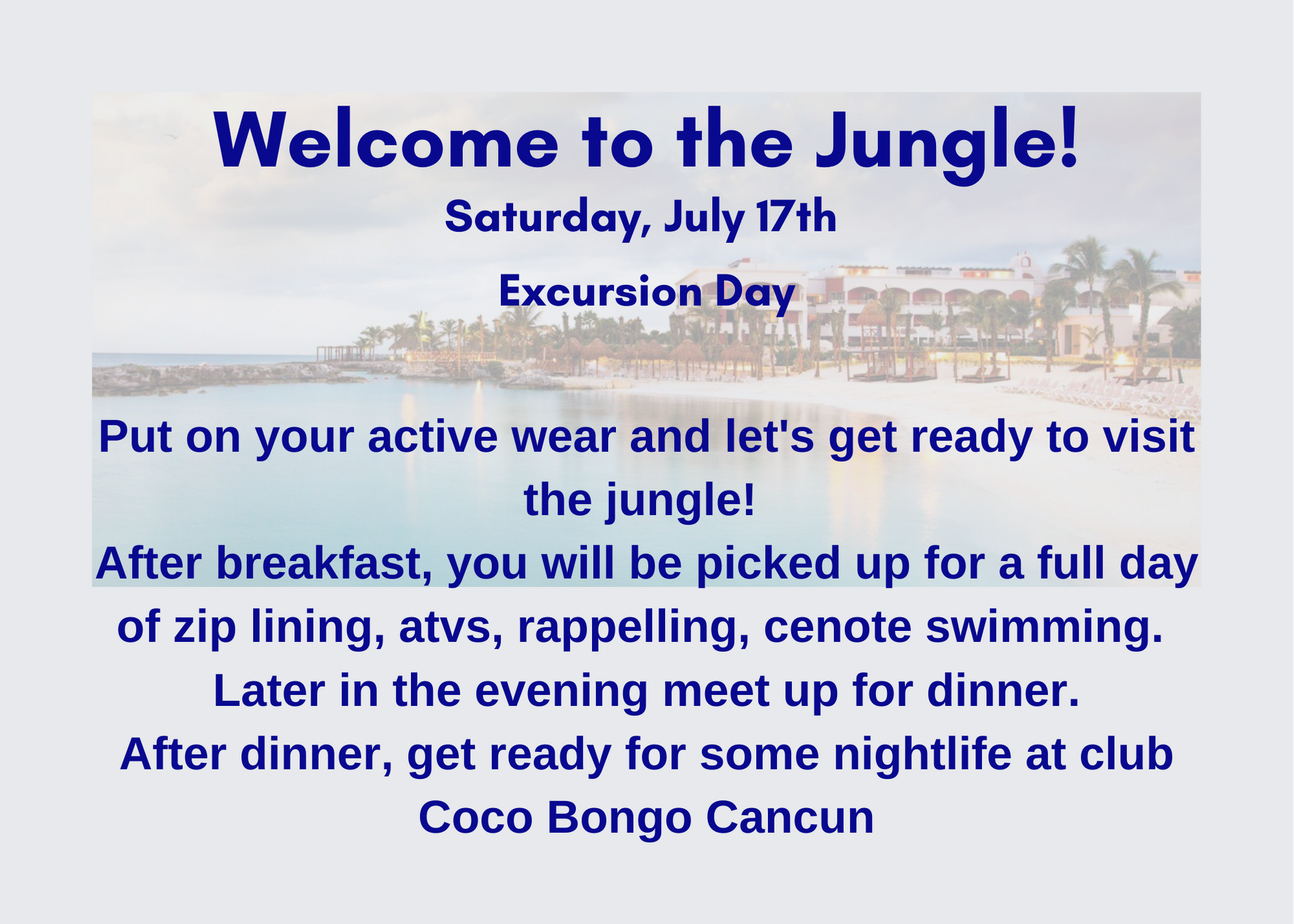 Welcome to CancunJuly
