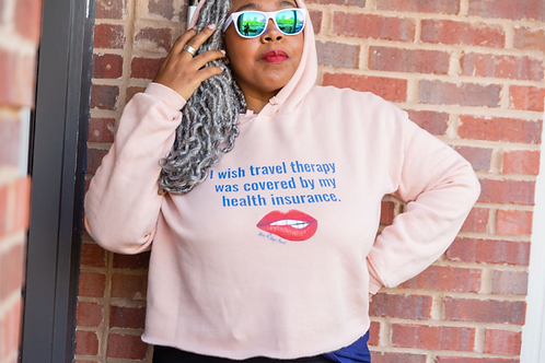Travel Therapy Crop Hoodie