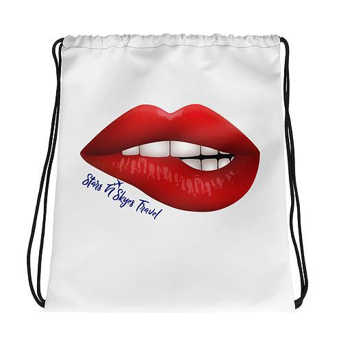 SNS Lips Drawstring bag (customizable)