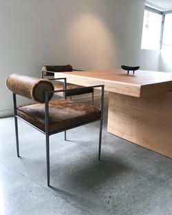 Custom Dining Table & Metal Chairs