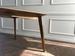 Walnut and Glass Dining Table