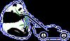 peace panda transparent blank with shado