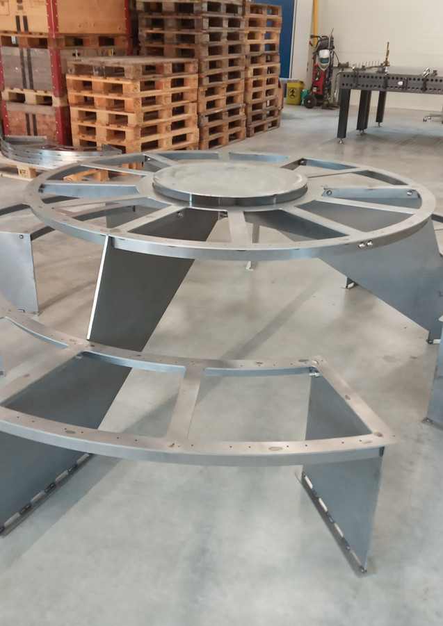 Chassis table ronde