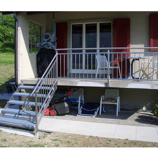 Garde-corps et escalier inox