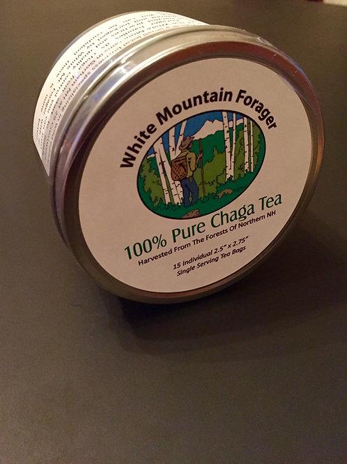 100% Chaga Tea Bags - 15 Count