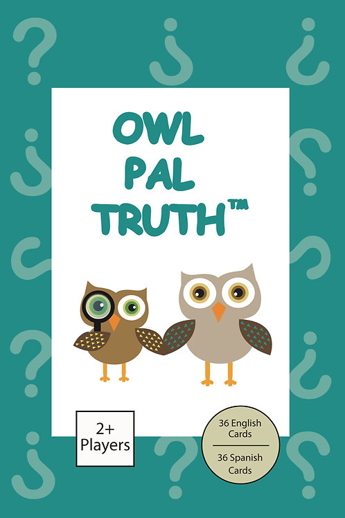 Owl Pal Truth (English/Spanish Combo set-for kids who have been abused)