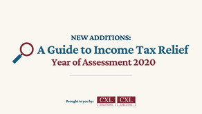 New Additions: Income Tax Relief for The Year of Assessment 2020